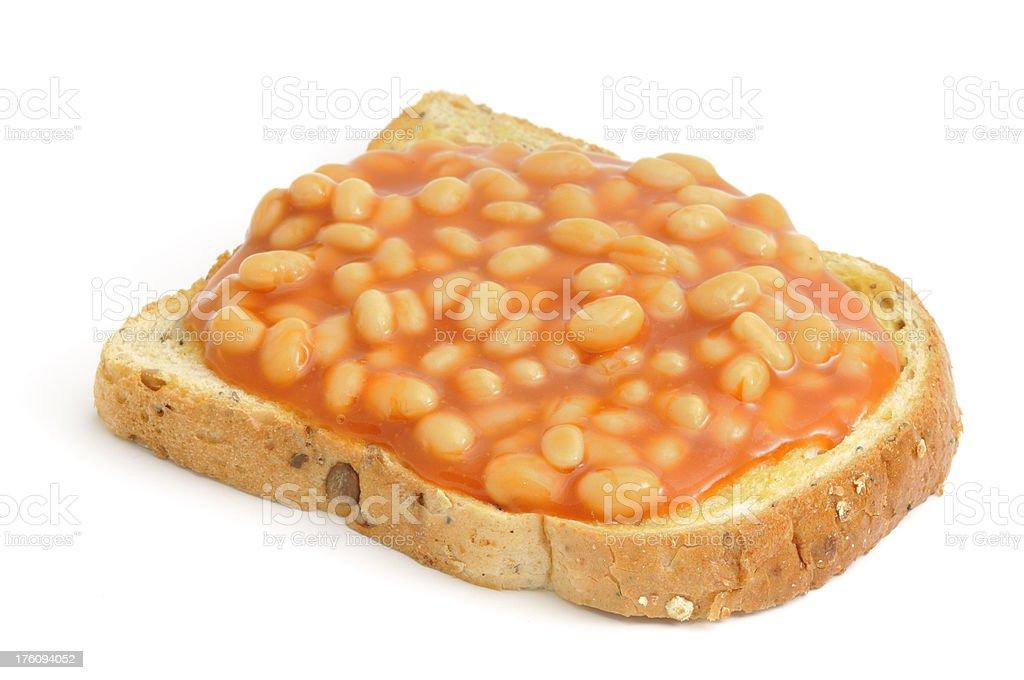 Beans on Toast royalty-free stock photo