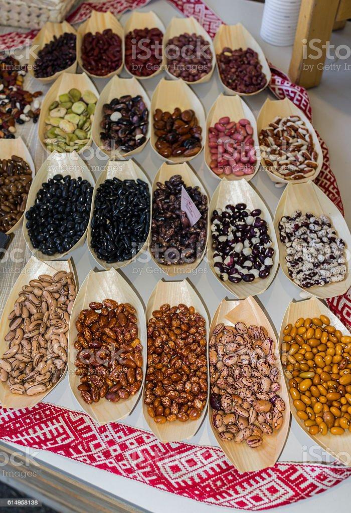 Beans produced in Latvia (Turin, Italy) stock photo