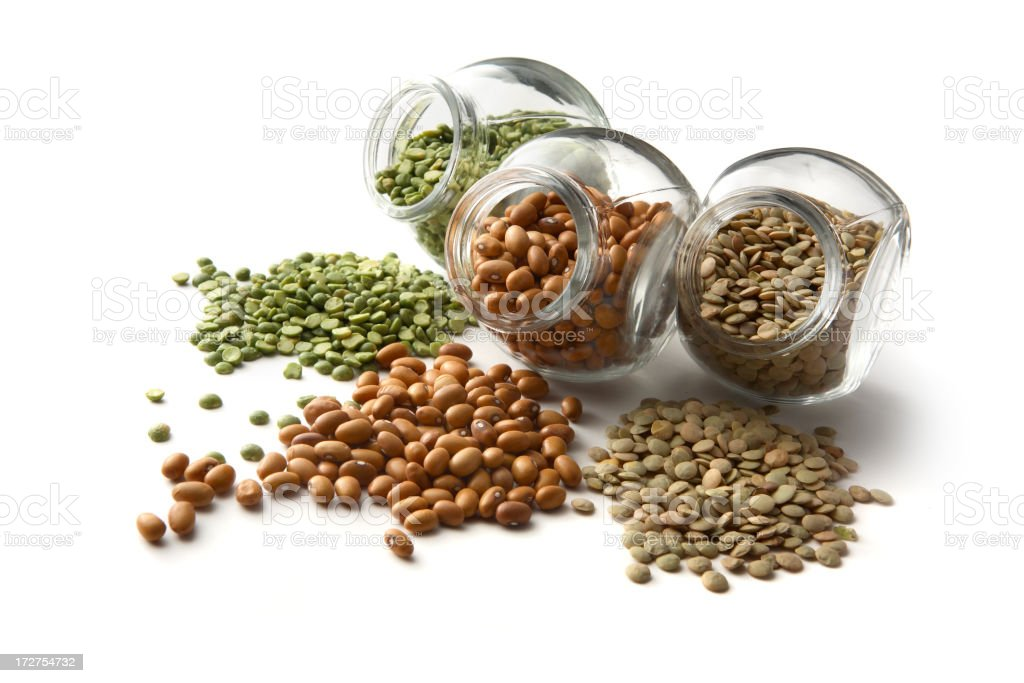 Beans: Split Pea, Lentil, Bean stock photo