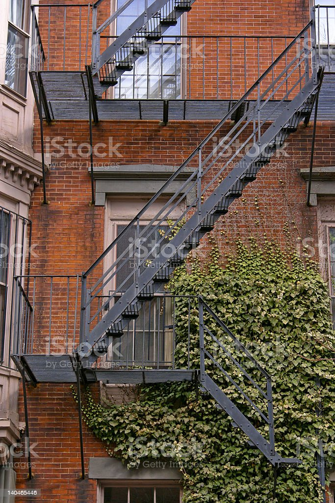 Beantown Fire Escape royalty-free stock photo