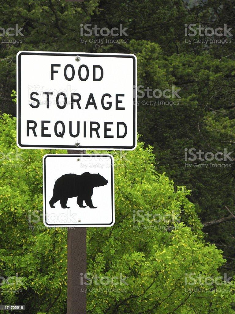 Bear Aware Sign stock photo