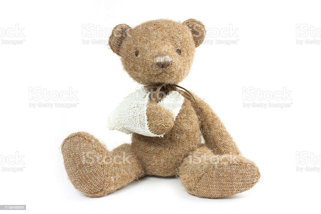 bear broken arm stock photo