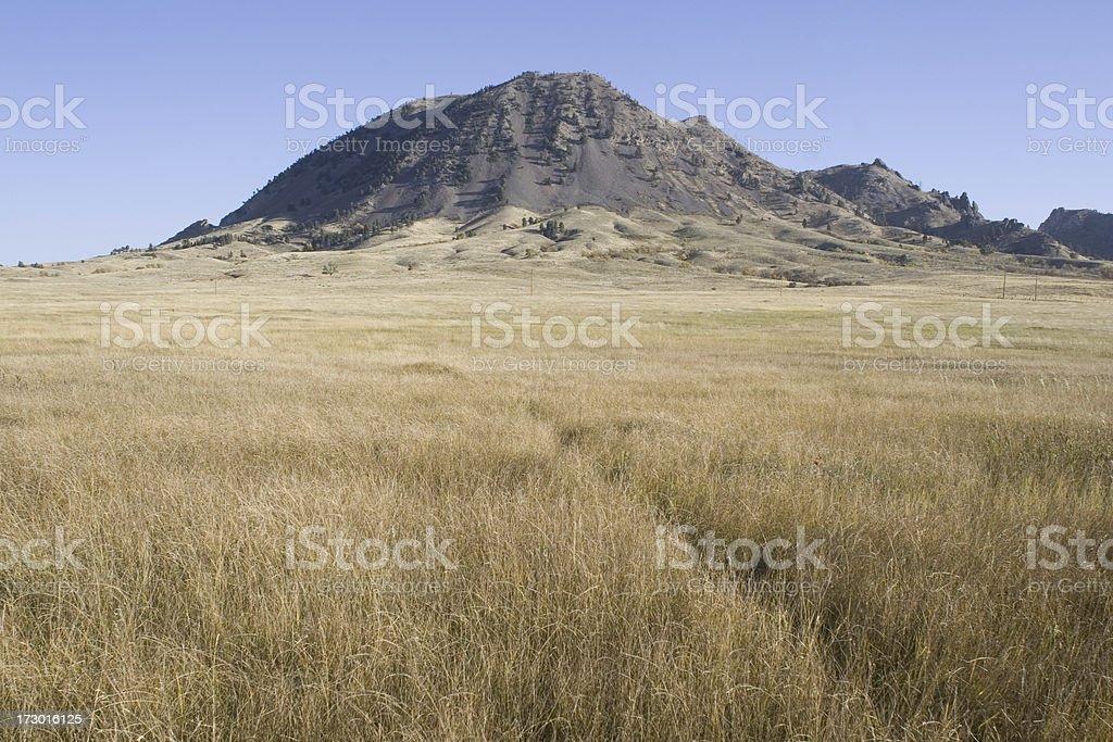 Bear Butte in Black Hills South Dakota stock photo