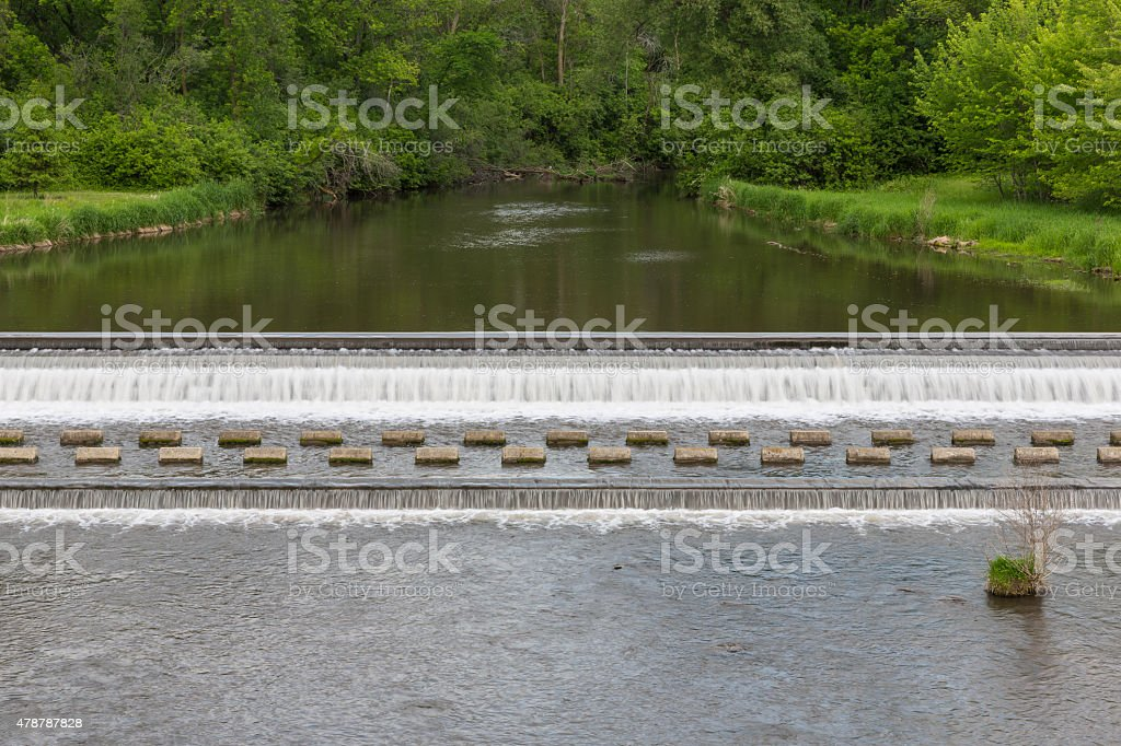 Bear Creek Dam stock photo