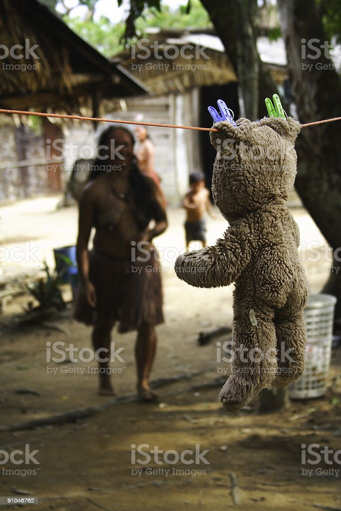 Bear in the Jungle royalty-free stock photo