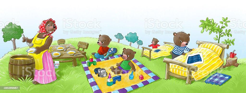 Bear kindergarten stock photo