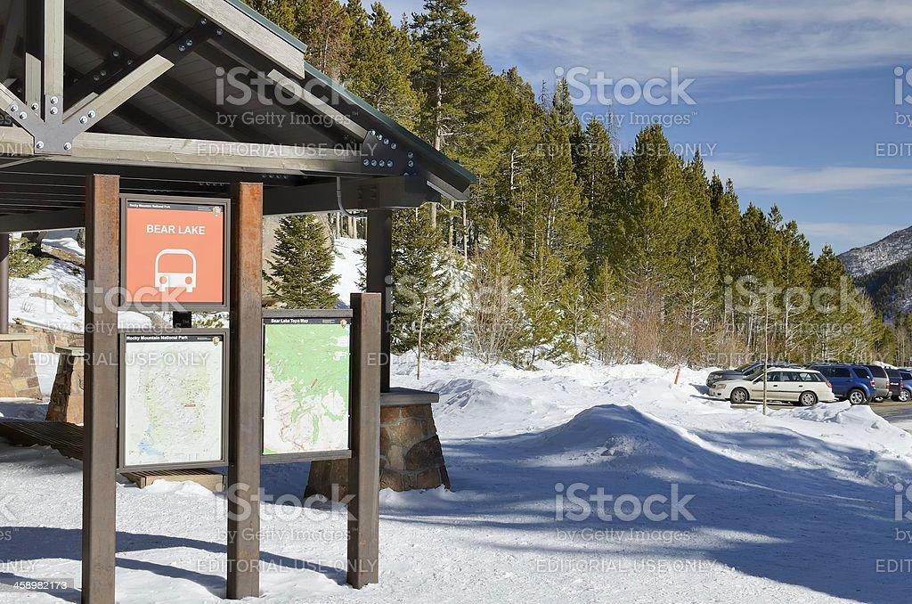 Bear Lake Comfort Station royalty-free stock photo