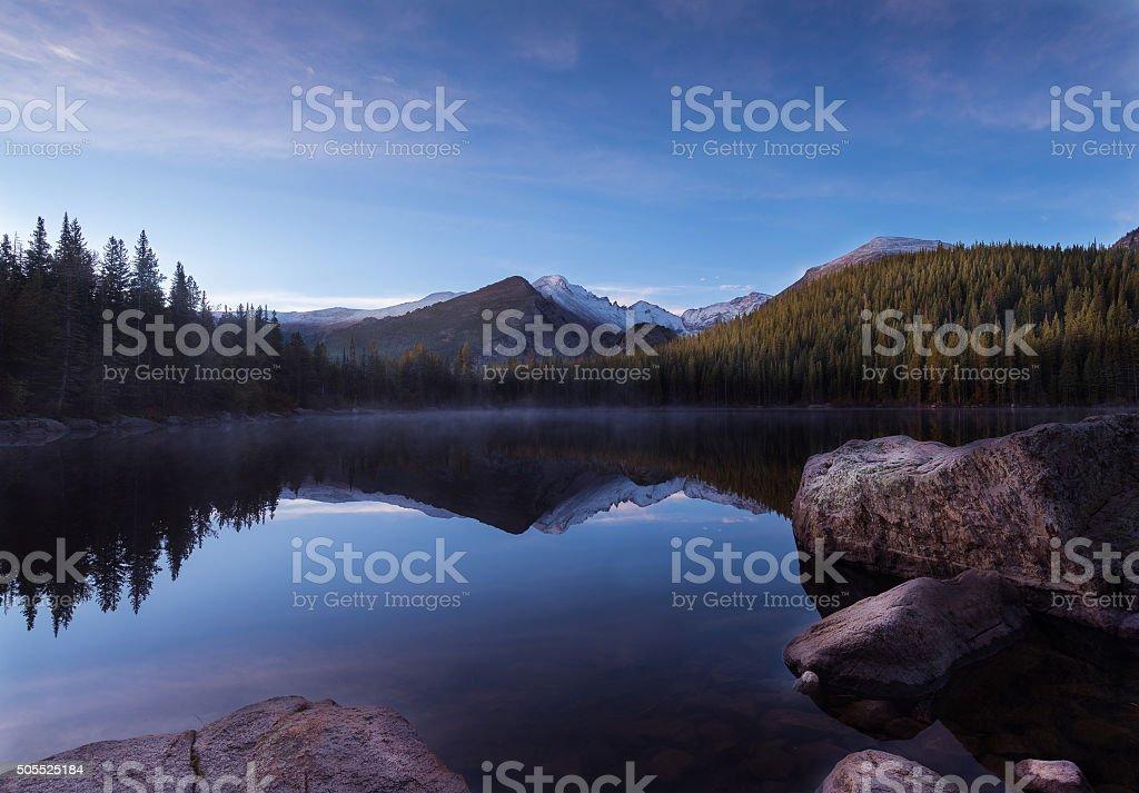 Bear Lake reflection stock photo