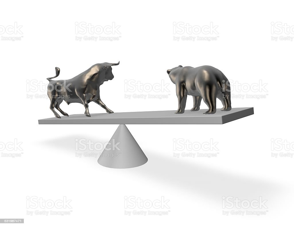 Bear market exchange abstract financial concept. stock photo