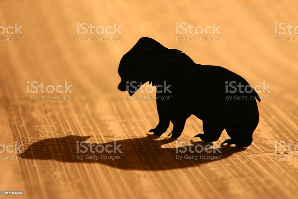 Bear Market royalty-free stock photo