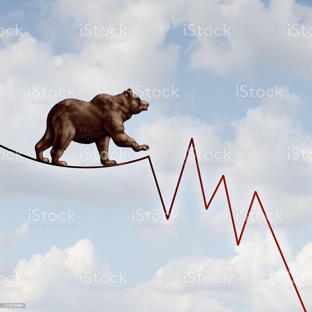 Bear Market Risk stock photo