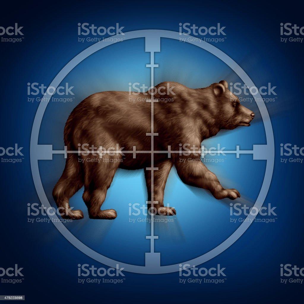 Bear Market Target stock photo