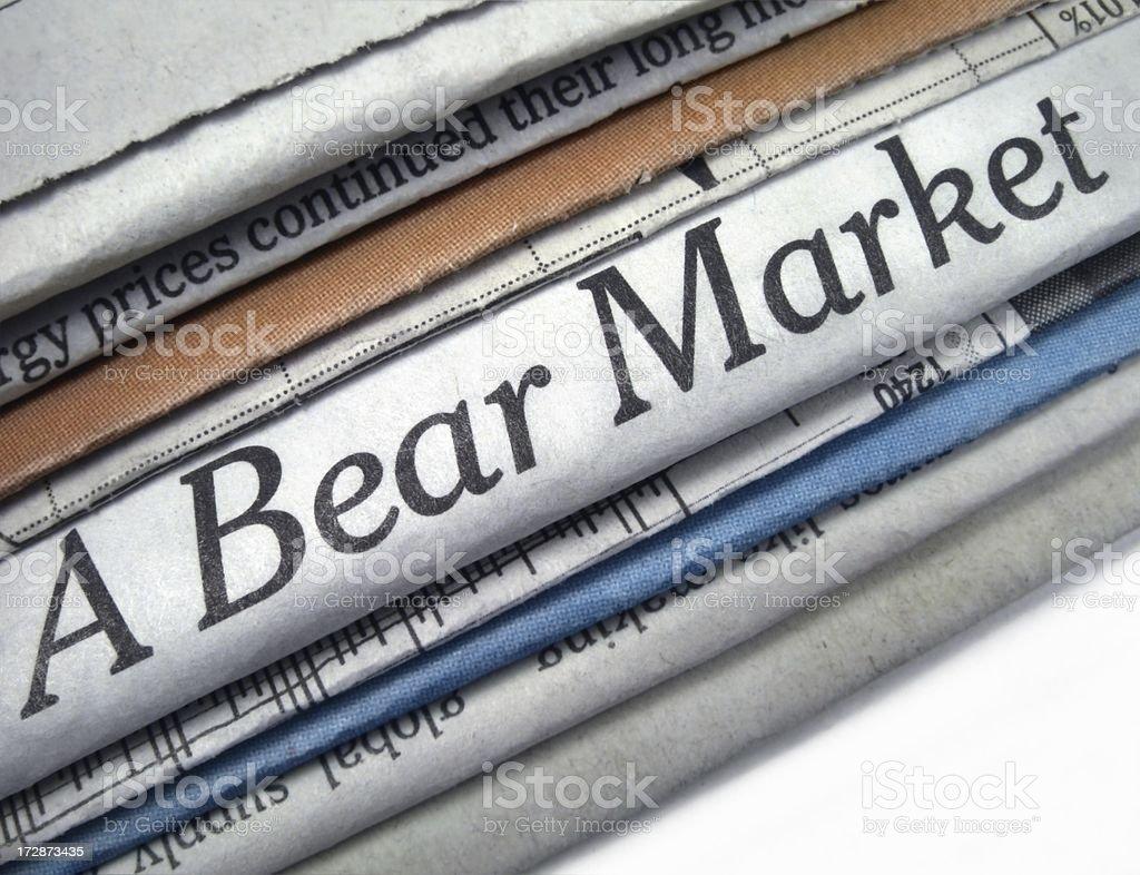 Bear Market Trend royalty-free stock photo