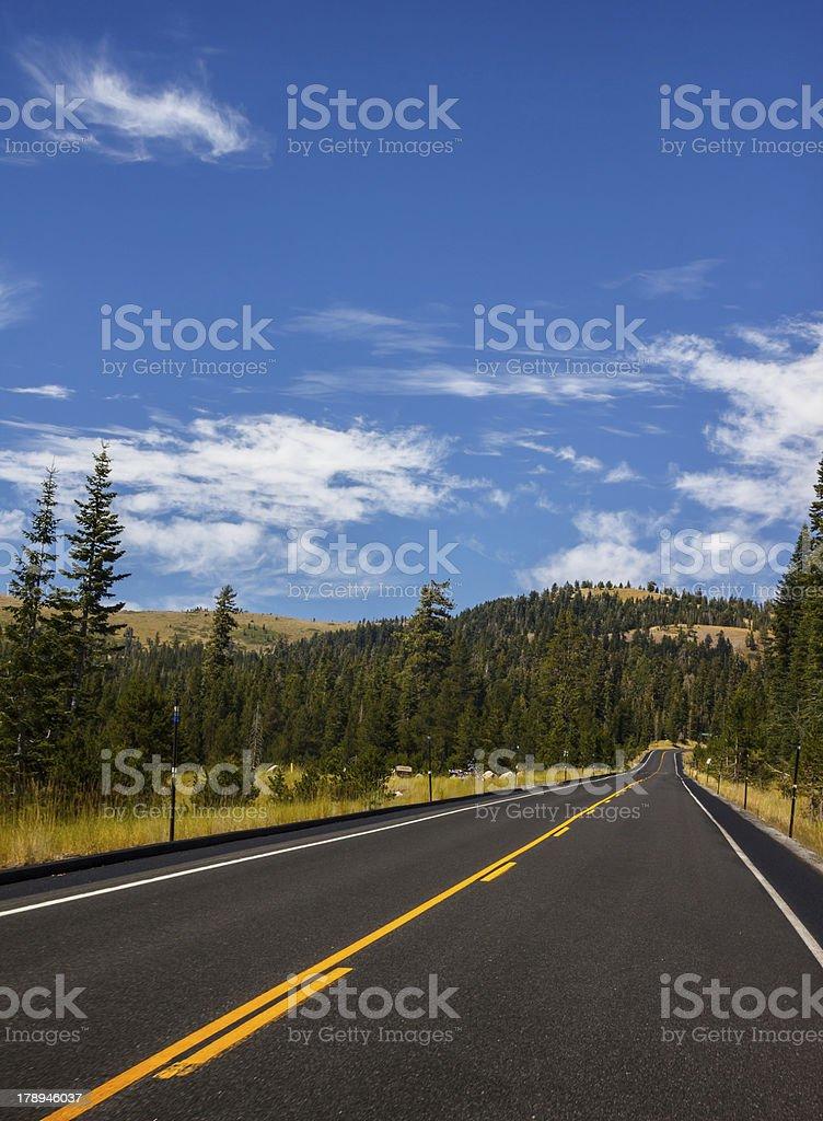 Bear Valley Road - California, USA royalty-free stock photo
