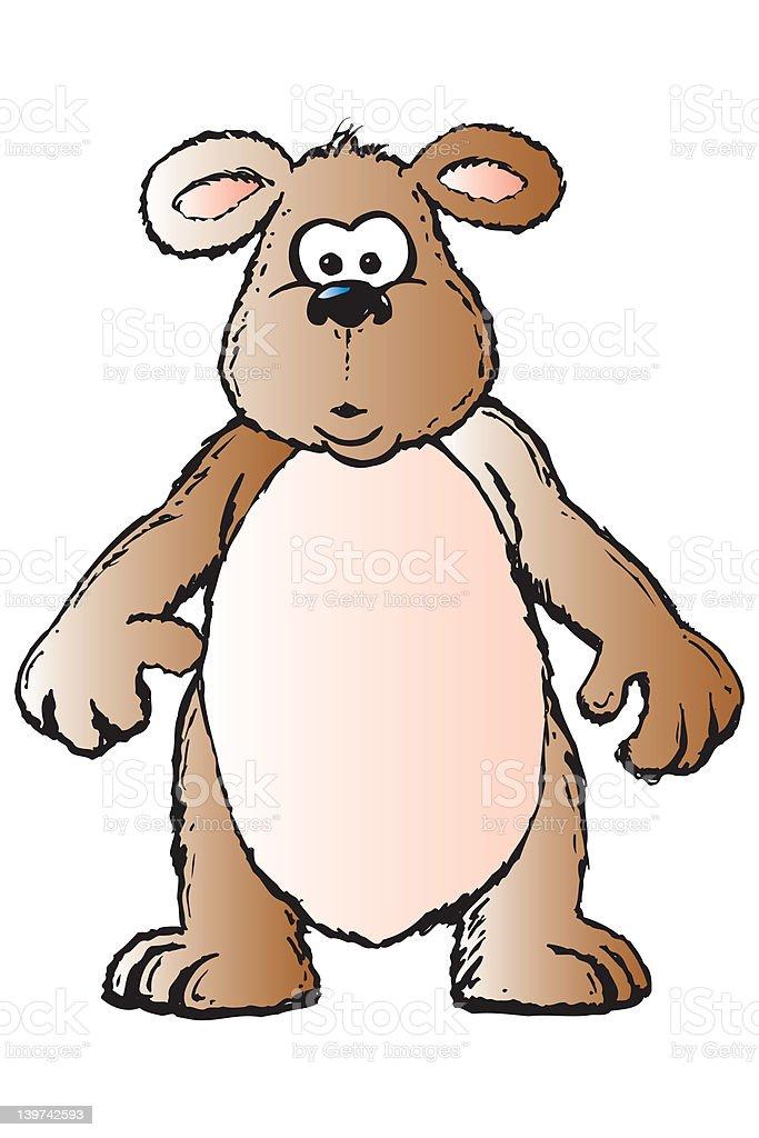 Bear wondering royalty-free stock photo