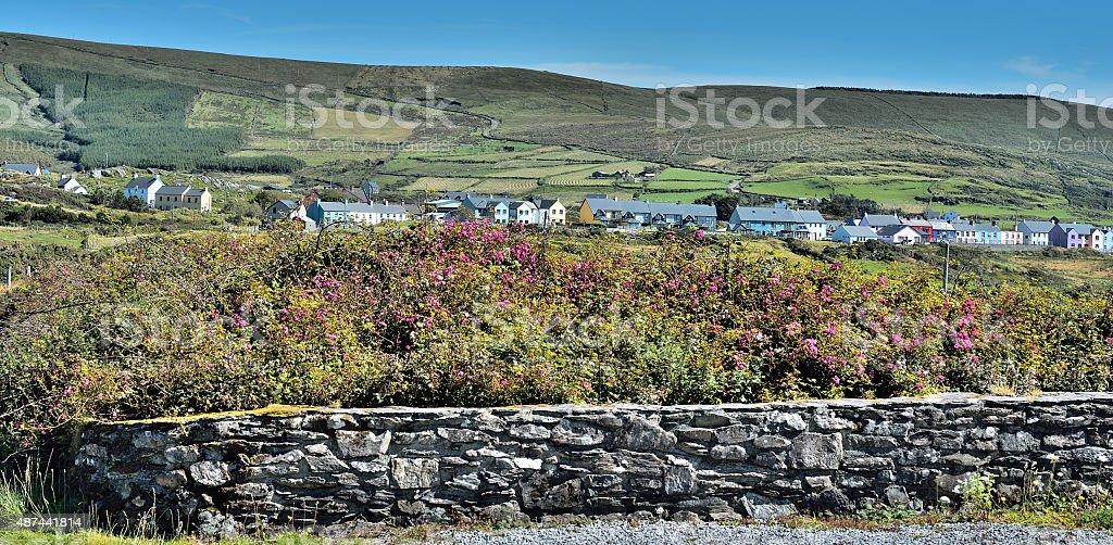 Beara Way - Eyeries the most colorful village Irelands stock photo