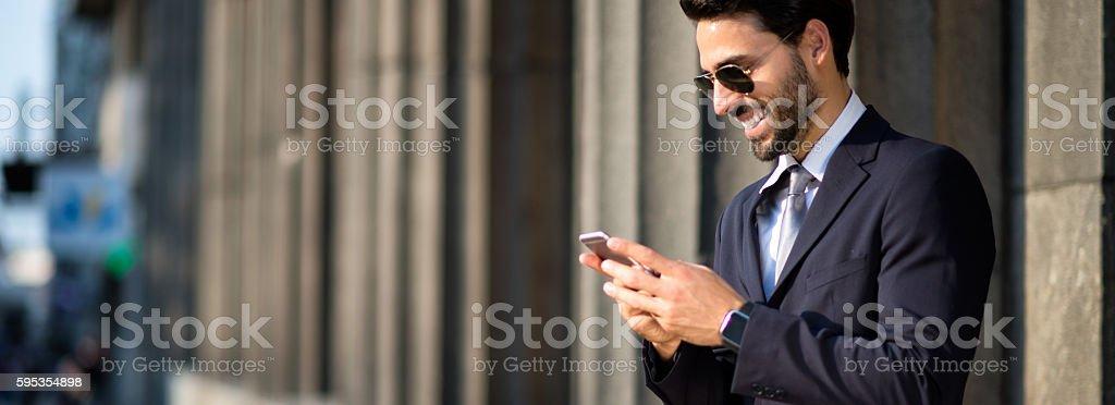 Bearded businessman stock photo