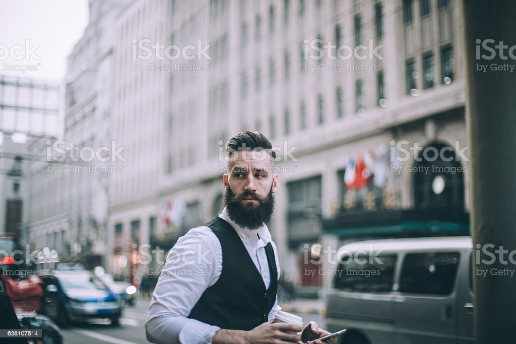 Bearded gentleman stock photo