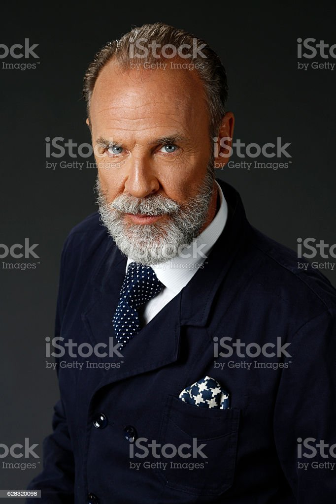 Bearded  lumbersexual   Attitude senior men    Individuality  portrait stock photo