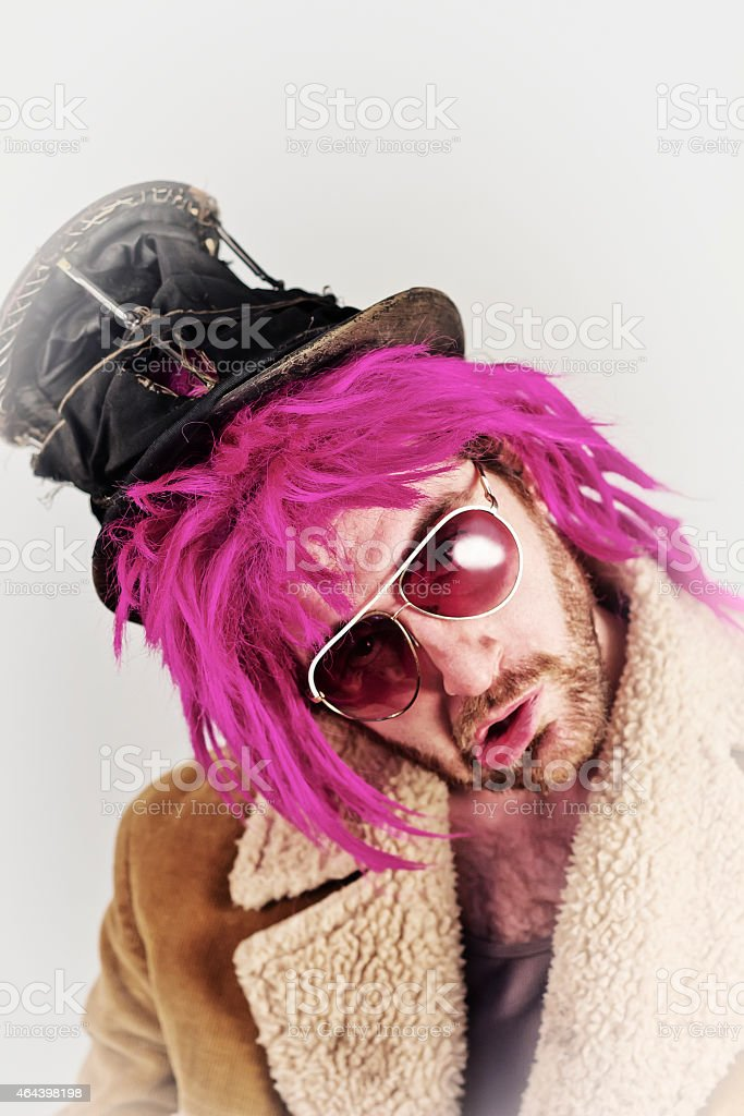 Bearded Lunatic stock photo