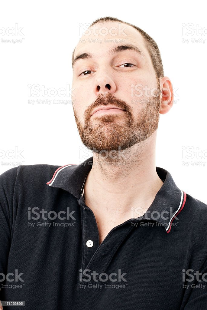 Bearded Man with I Told You So Look stock photo