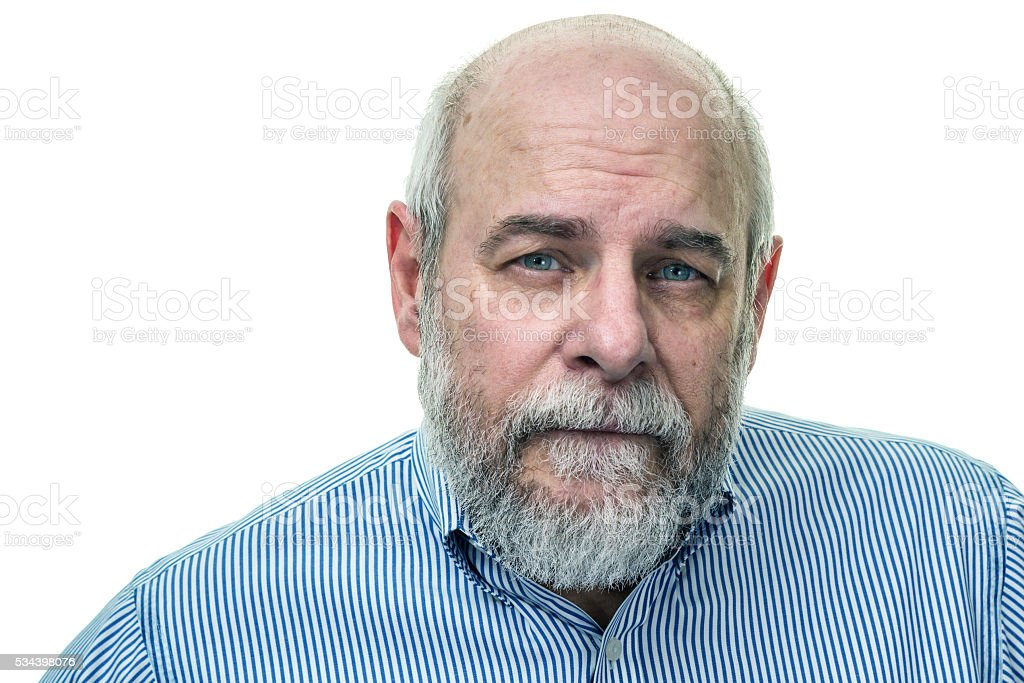 Bearded Senior Man Portrait stock photo