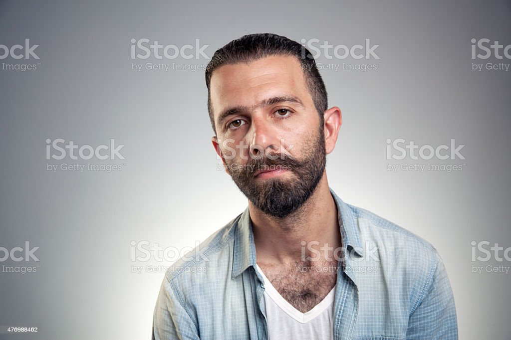 Bearded young man stock photo