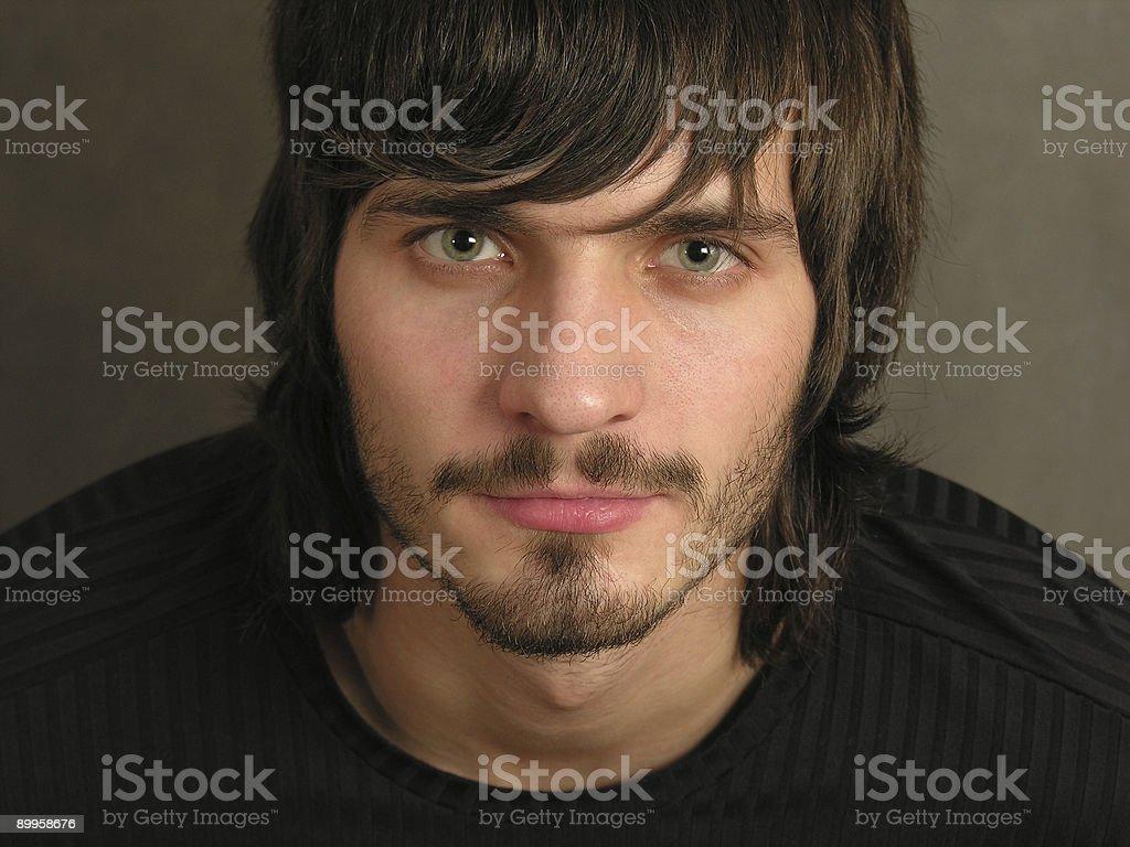 beardman face 2 royalty-free stock photo