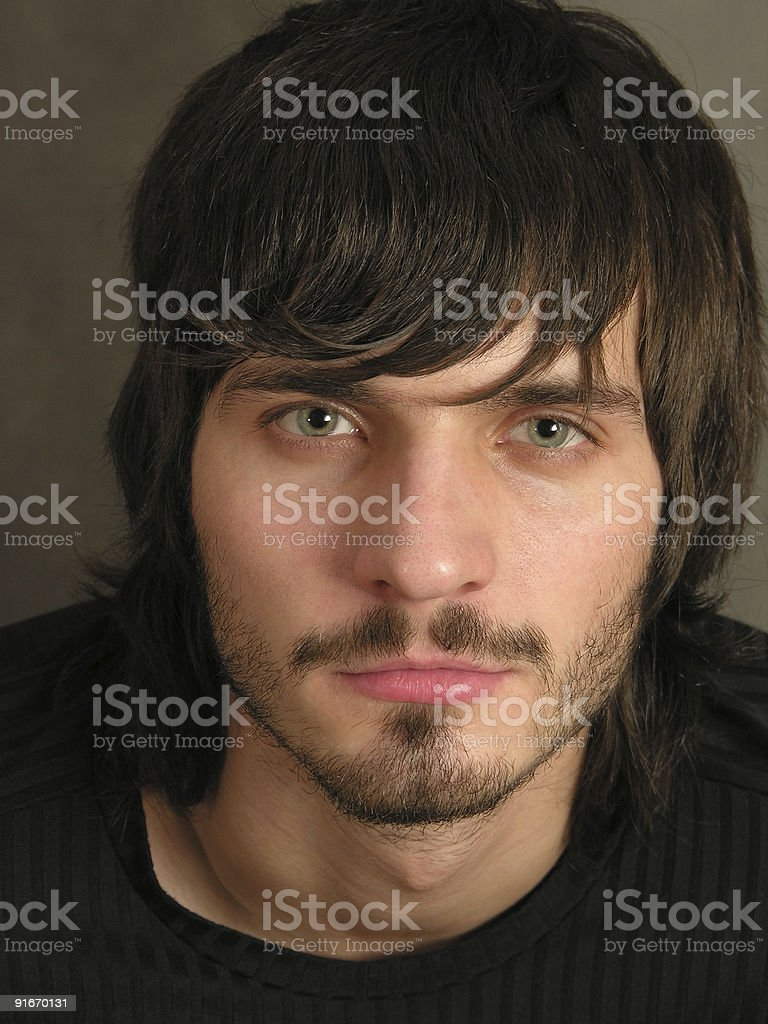 beardman face 2 stock photo
