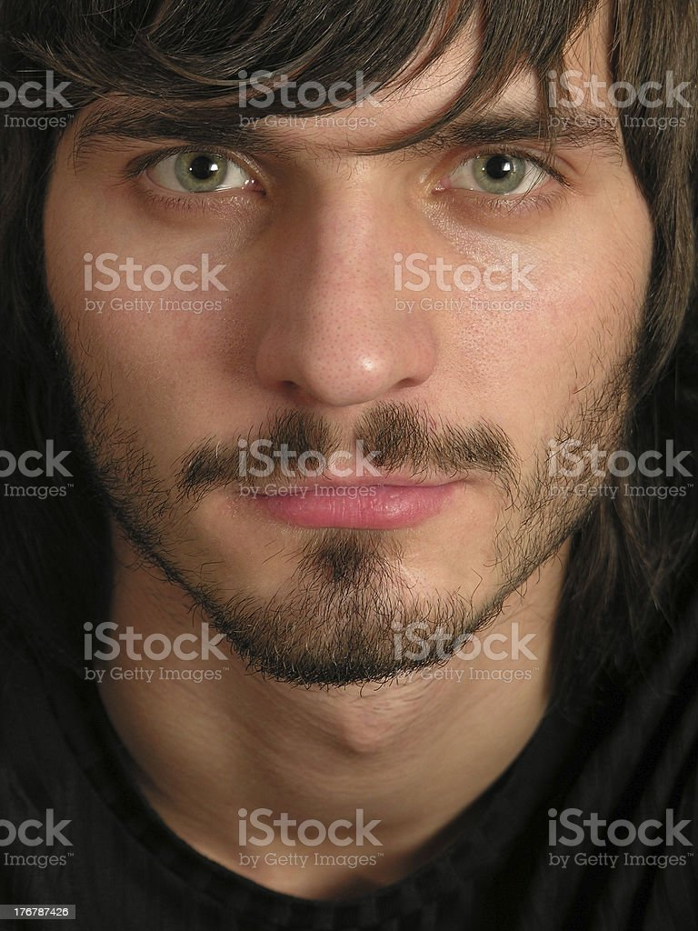 beardman face stock photo