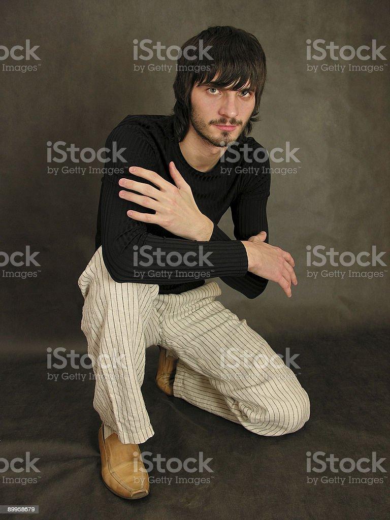 beardman sit stock photo