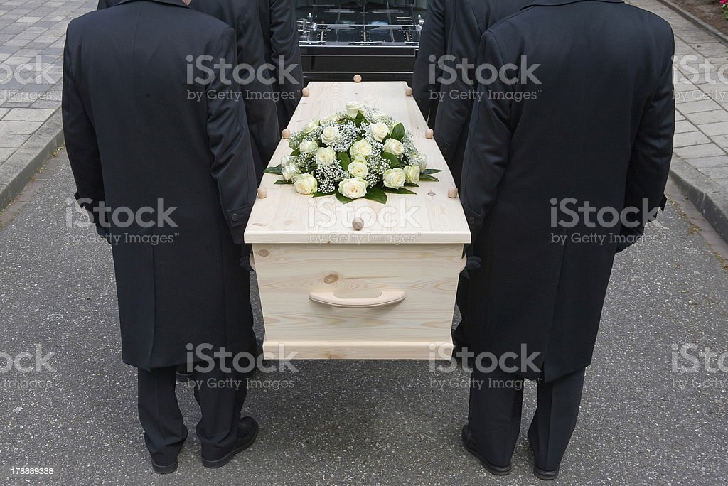 Bearers with coffin stock photo