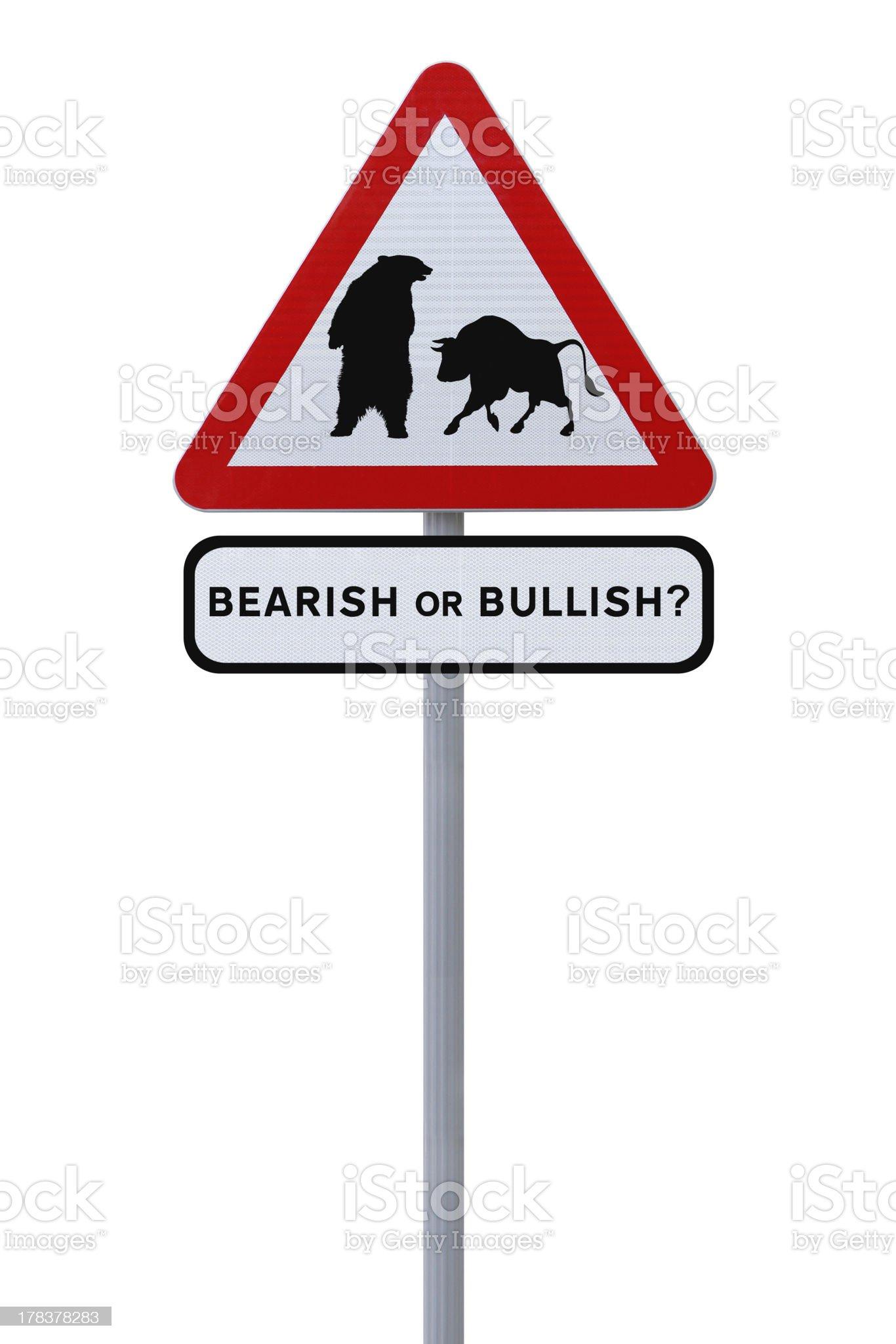 Bearish or Bullish? royalty-free stock photo