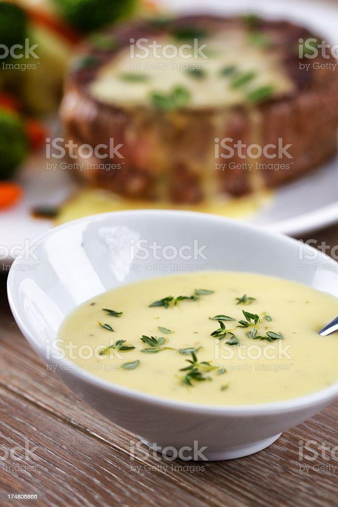 Bearnaise sauce royalty-free stock photo