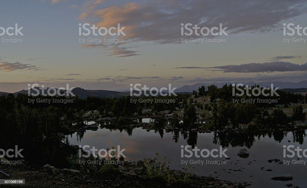 Beartooth High Lake stock photo