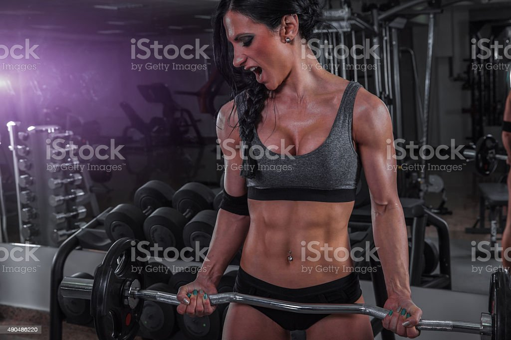 Beast In Gym stock photo