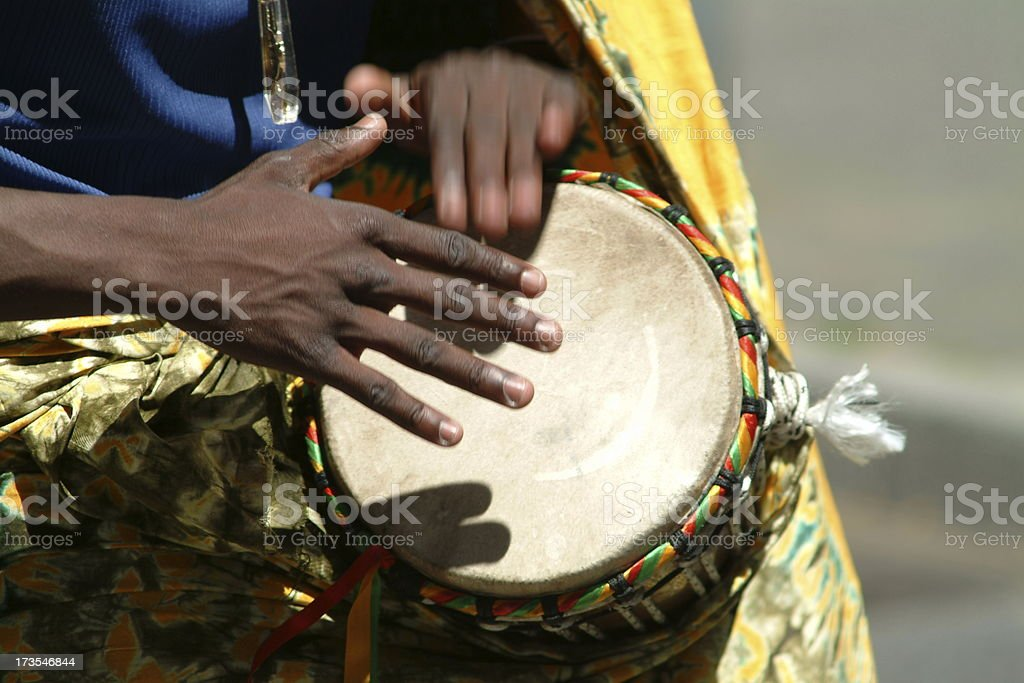 Beat the drum royalty-free stock photo