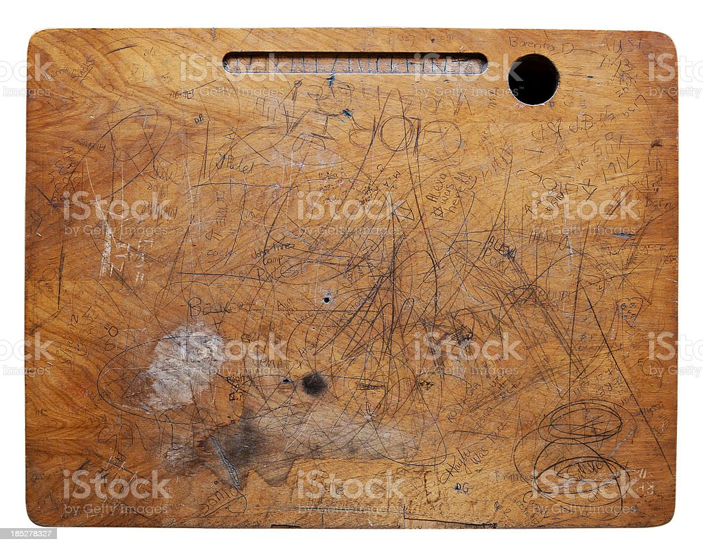 Beat up Desk Surface stock photo