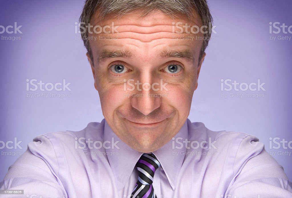 beaten businessman stock photo
