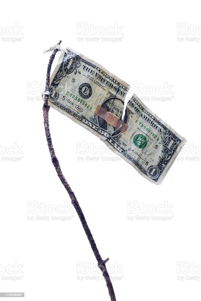 Beaten Dollar Series stock photo