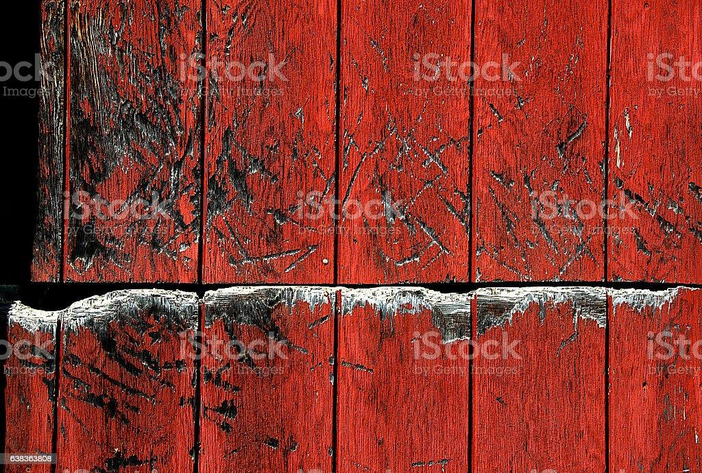 Beaten up Split Barn Door stock photo