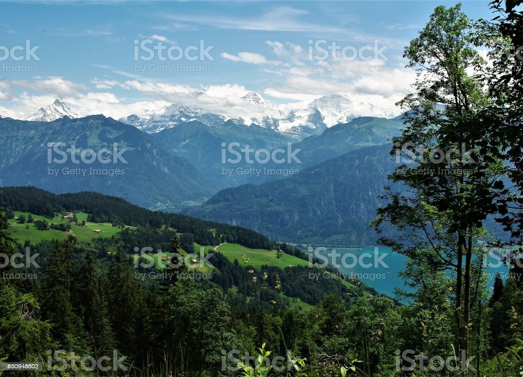 Beatenberg - the Sun Terrace of the Bernese Oberland, Switzerland stock photo