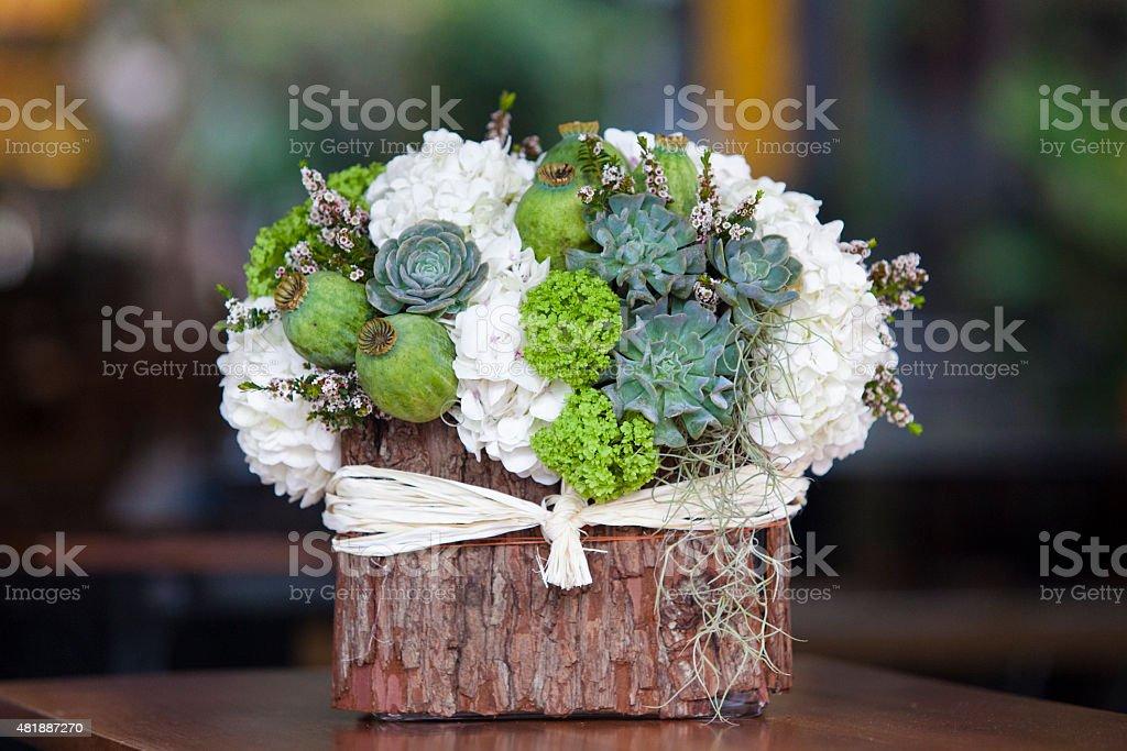 beatiful bouquet flowers stock photo