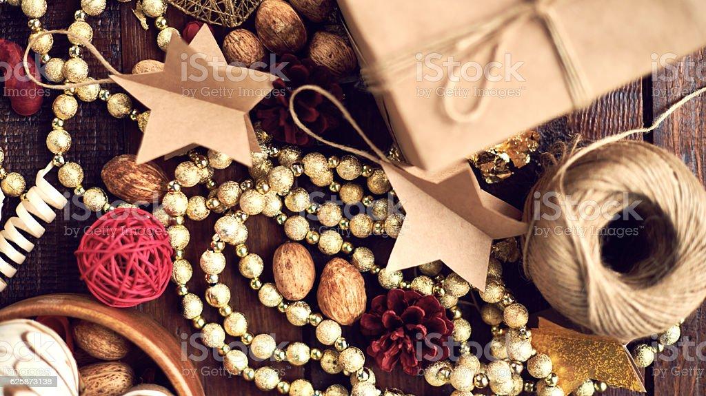 Beatiful Christmas decorations stock photo