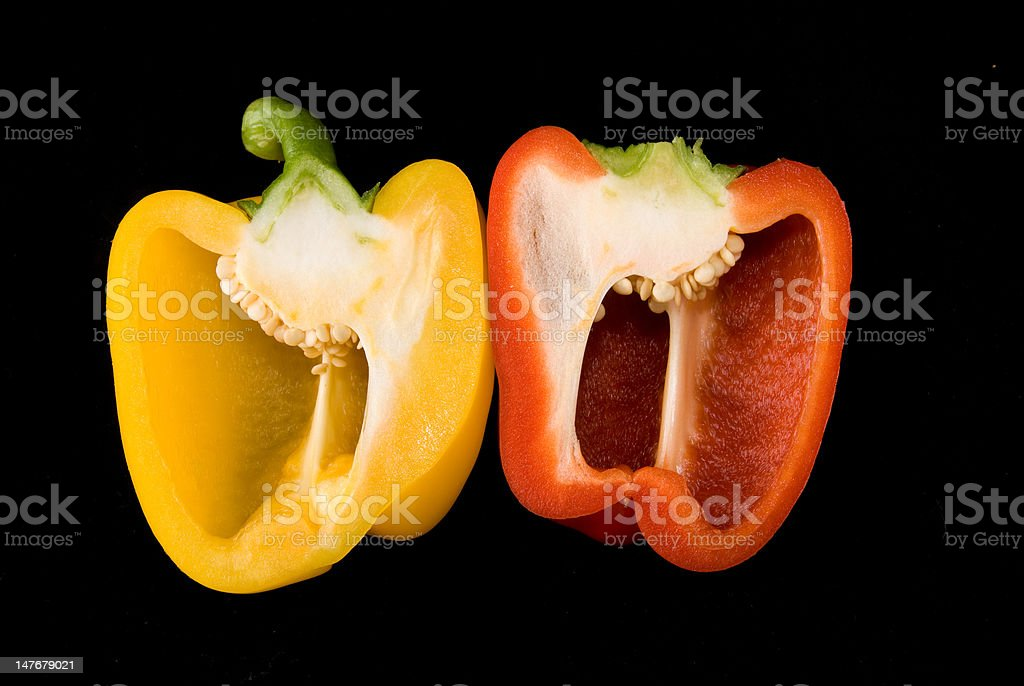 Beatiful dissected Pimiento royalty-free stock photo
