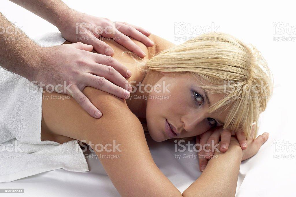 Beatiful Girl Receiving a Massage royalty-free stock photo