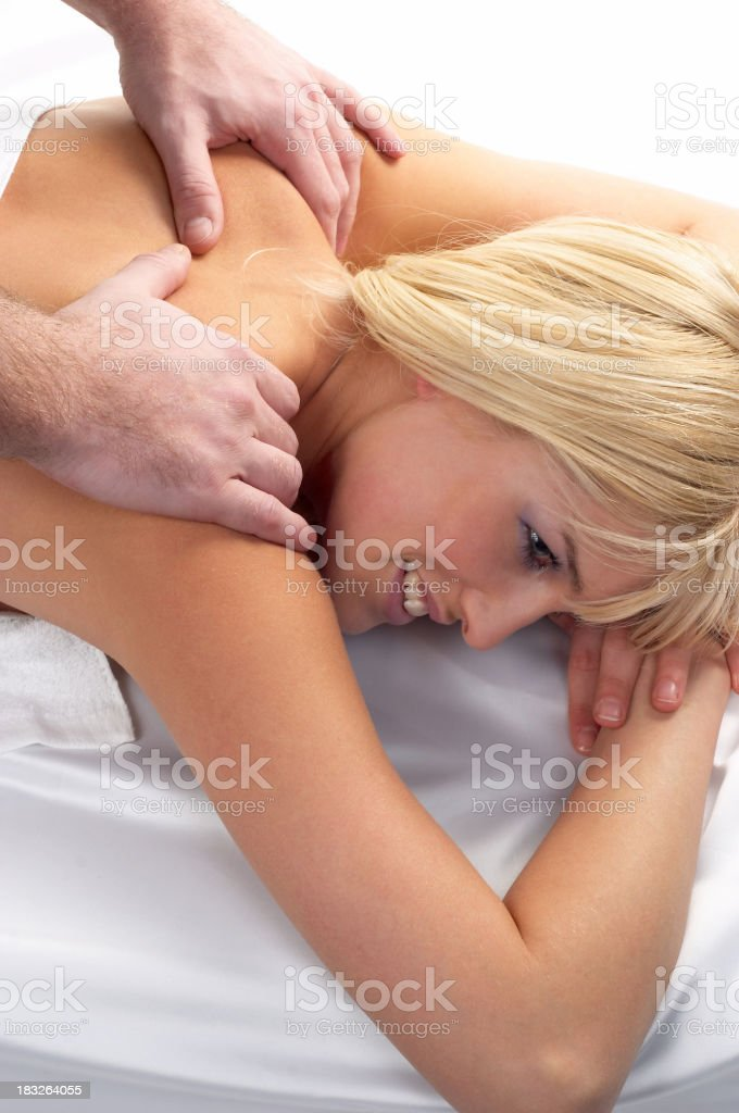 Beatiful Girl Receiving a Massage stock photo