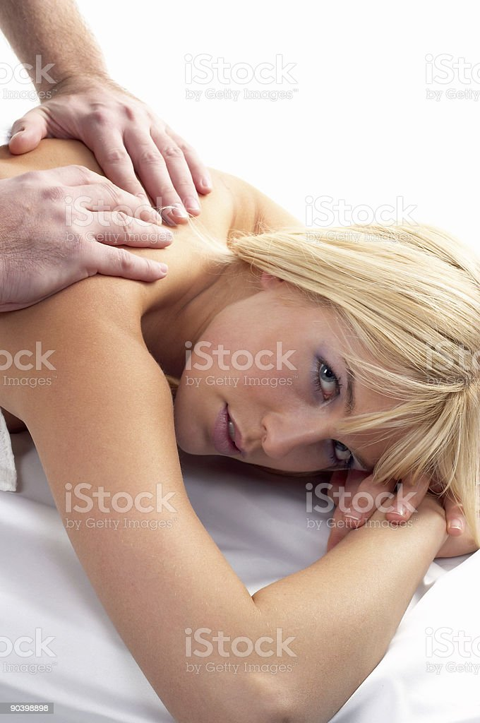 Beatiful Girl Receiving a Massage royalty-free stock photo