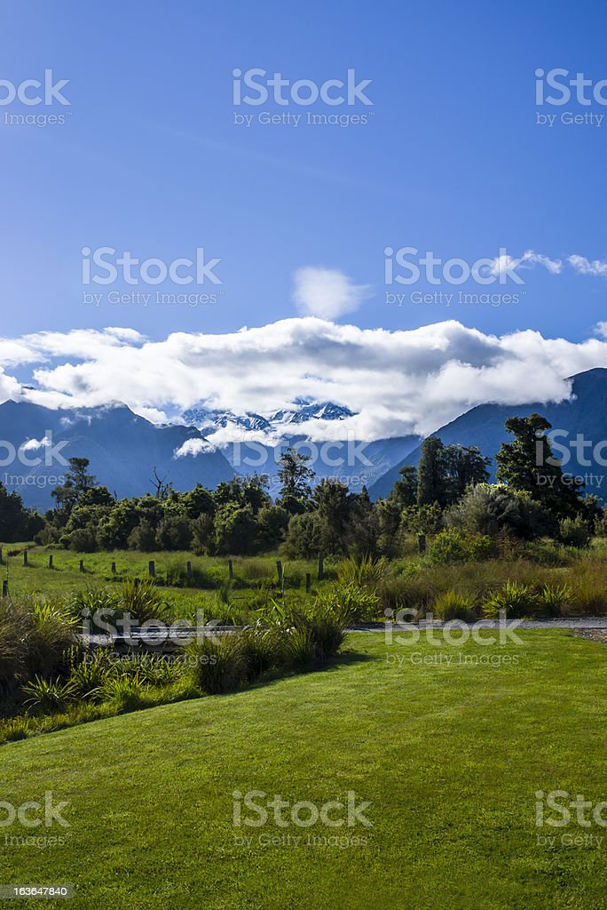 Beatiful mountains with clouds royalty-free stock photo