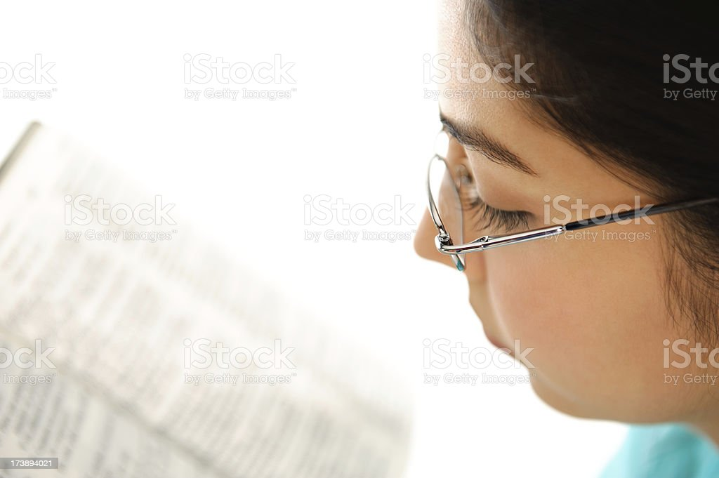 Beatiful woman reading royalty-free stock photo